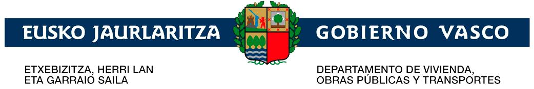 Logotipo del departamentos de transportes del gobierno vasco